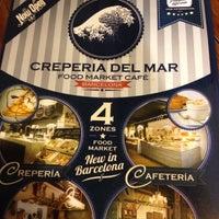 Photo taken at Crepería del Mar by Marcella F. on 7/12/2012