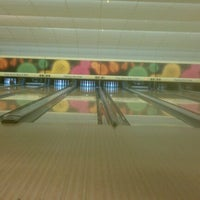 Photo taken at Highland Park Bowl Inc. by Laura N. on 6/19/2012