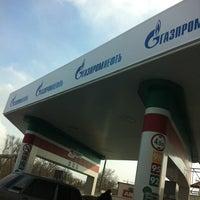 Photo taken at Газпромнефть АЗС № 273 by Denis™ S. on 3/17/2012