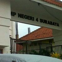Photo taken at SMP Negeri 4 Surabaya by Noorila N. on 3/2/2012