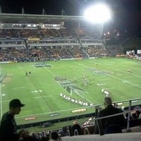 Photo taken at Mt Smart Stadium by Caitlin H. on 7/21/2012