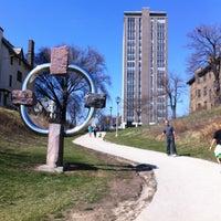 Photo taken at Sculpture @ McKinley Marina by Heidi P. on 3/18/2012