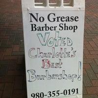 Photo taken at No Grease Barbershop by Jason B. on 5/7/2012