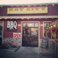 Photo taken at Hot City Barbeque & Bistro by Enrique M. on 8/27/2012