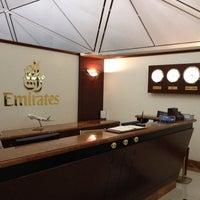 Photo taken at Emirates Lounge by yoshimitsu s. on 2/11/2012