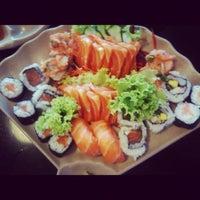 Photo taken at Oishii Sushi by Clara A. on 4/7/2012