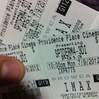 Photo taken at Showcase Providence Place & IMAX by Mike B. on 7/10/2012