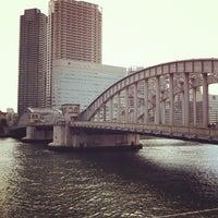 Photo taken at Kachidoki Bridge by ykr_gnn on 2/11/2012