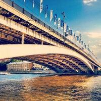 Photo taken at Bolshoy Ustyinsky Bridge by Dmitry on 7/29/2012