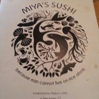 Photo taken at Miya's Sushi by Lauren L. on 9/13/2012
