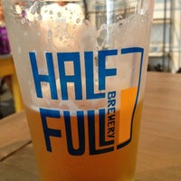 Photo taken at Half Full Brewery by Sam M. on 9/8/2012