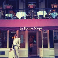 Photo taken at La Bonne Soupe by Danny C. on 4/8/2012