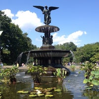 Photo taken at Bethesda Fountain by Michael H. on 9/1/2012