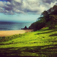 Photo taken at Blackpool Sands by Juliette E. on 5/28/2012