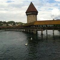 Photo taken at Chapel Bridge by Brenda A. on 5/3/2012