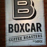 Photo taken at Boxcar Coffee Roasters by Melissa W. on 3/30/2012