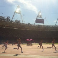 Photo taken at London Stadium by Jon T. on 9/8/2012