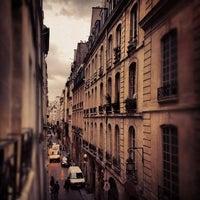 Photo taken at Rue Saint-Sauveur by Sivan on 2/15/2012