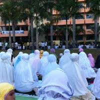 Photo taken at Lapangan Basket Unmuh Jember by Rizka P. on 8/18/2012