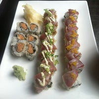 Photo taken at Sushi Damo by Sophie H. on 7/23/2012