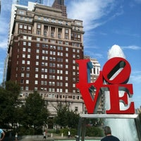 Photo taken at JFK Plaza / Love Park by Pedro D. on 8/26/2012