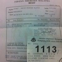 Photo taken at Jabatan Imigresen Malaysia by Tokico S. on 4/24/2012