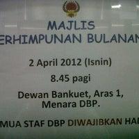 Photo taken at Menara DBP by Oh R. on 4/2/2012