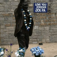 Photo taken at Joe Paterno Statue by Robert W. on 4/21/2012