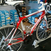 Photo taken at Bob's Bicycle Shop by Mark P. on 3/7/2012