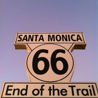 """Photo taken at Santa Monica Route 66 """"End of the Trail"""" by Paul G. on 8/31/2012"""