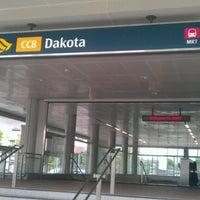 Photo taken at Dakota MRT Station (CC8) by Chikki M. on 6/27/2012