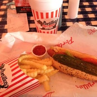 Photo taken at Portillo's Hot Dogs by Doug W. on 5/12/2012