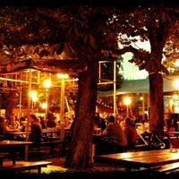 Photo taken at Zahrádky a restaurace Riegrovy sady – Park Café by Radek P. on 8/8/2012