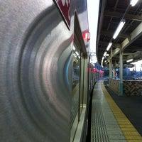 Photo taken at Senjuōhashi Station (KS05) by heiwa4126 on 5/6/2012