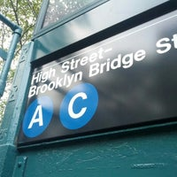 Photo taken at MTA Subway - High St/Brooklyn Bridge (A/C) by Andrew H. on 7/26/2012