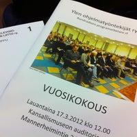 Photo taken at Kansallismuseon auditorio by Riikka H. on 3/17/2012