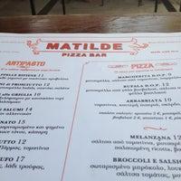 Photo taken at Matilde Pizza Bar by Evripidis A. on 4/8/2012
