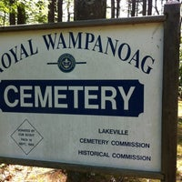 Photo taken at Royal Wampanoag Cemetery by Mike O. on 5/20/2012