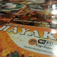 Photo taken at Hayaki Kopitiam by Shafiq R. on 9/5/2012