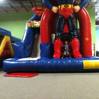 Photo taken at Bounce House Williamsburg by Jay R. on 7/4/2012