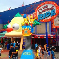 Photo taken at The Simpsons Ride by Rus S. on 8/18/2012