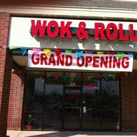 Photo taken at Wok & Roll by Derek C. on 4/19/2012