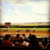 Photo taken at Canterbury Park by Rachael D. on 8/19/2012
