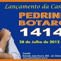 Photo taken at Comitê Pedrinho Botaro 14 145 by Pamela P. on 7/24/2012