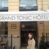Photo taken at Grand Tonic Hôtel by Pream N. on 4/2/2012