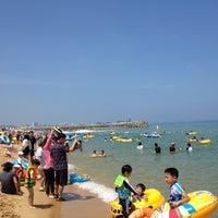 Photo taken at Sokcho Beach by KJ🎗 on 7/27/2012