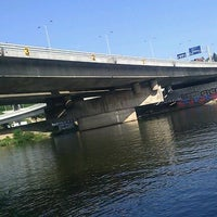 Photo taken at Barrandovský most by Ginger on 6/17/2012