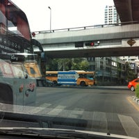 Photo taken at Ratchathewi Intersection by Ratcha P. on 4/21/2012