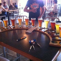 Photo taken at Right Brain Brewery by Bryan B. on 8/24/2012
