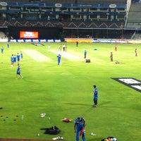 Photo taken at Rajiv Gandhi Cricket Stadium by Harish Kumar R. on 5/8/2012